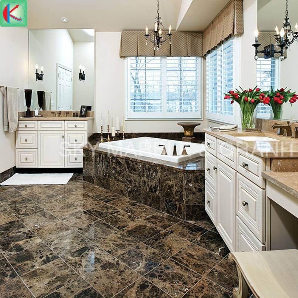 Đá marble nâu màu sắc trang nhã mang lại không gian sang trọng