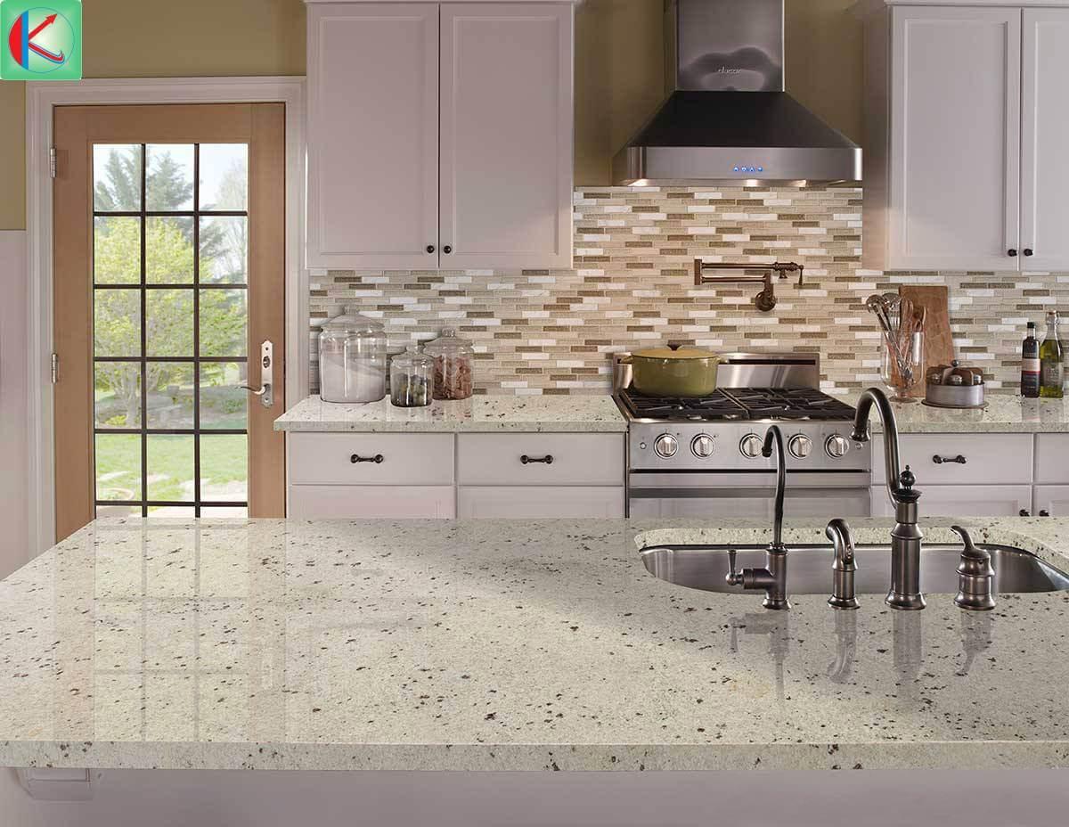 Bàn đá hoa cương Granite Colonial White