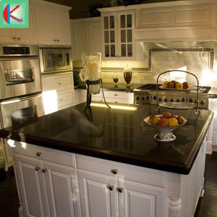 Đá Granite Absolute Black ốp lát nhà bếp