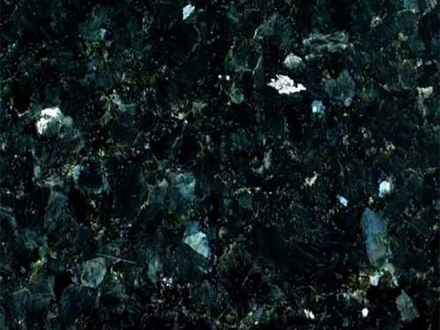 Black green nacre granite