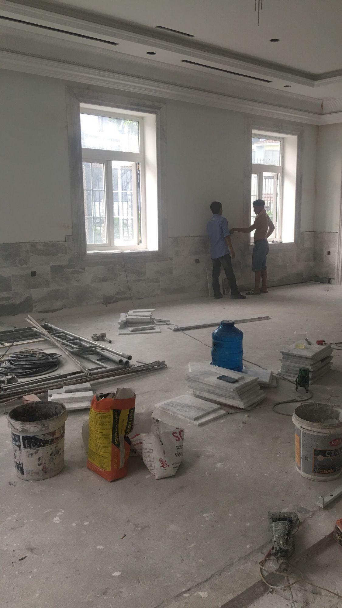thi công các sản phẩm đá ốp lát tự nhiên cao cấp cho công trình Biệt thự hiện đại của anh Tâm